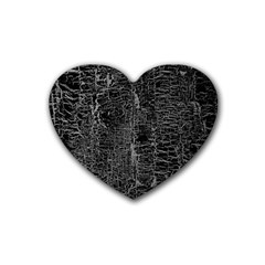 Old Black Background Rubber Coaster (heart)  by Nexatart