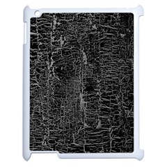 Old Black Background Apple Ipad 2 Case (white)