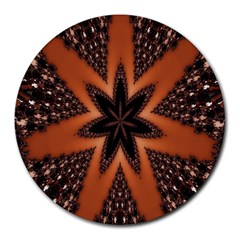 Digital Kaleidoskop Computer Graphic Round Mousepads