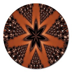 Digital Kaleidoskop Computer Graphic Magnet 5  (round) by Nexatart