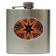 Digital Kaleidoskop Computer Graphic Hip Flask (6 Oz)