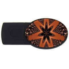 Digital Kaleidoskop Computer Graphic Usb Flash Drive Oval (4 Gb) by Nexatart