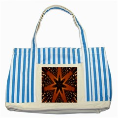 Digital Kaleidoskop Computer Graphic Striped Blue Tote Bag