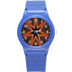 Digital Kaleidoskop Computer Graphic Round Plastic Sport Watch (s) by Nexatart