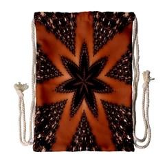 Digital Kaleidoskop Computer Graphic Drawstring Bag (large) by Nexatart