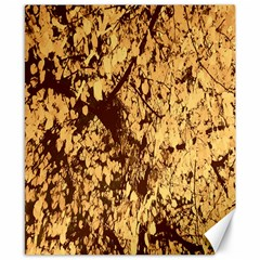 Abstract Brachiate Structure Yellow And Black Dendritic Pattern Canvas 8  X 10  by Nexatart