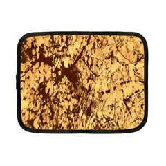 Abstract Brachiate Structure Yellow And Black Dendritic Pattern Netbook Case (small)  by Nexatart