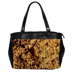 Abstract Brachiate Structure Yellow And Black Dendritic Pattern Office Handbags by Nexatart