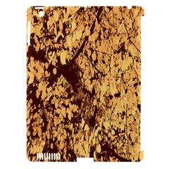 Abstract Brachiate Structure Yellow And Black Dendritic Pattern Apple Ipad 3/4 Hardshell Case (compatible With Smart Cover) by Nexatart