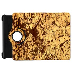 Abstract Brachiate Structure Yellow And Black Dendritic Pattern Kindle Fire Hd 7
