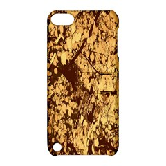 Abstract Brachiate Structure Yellow And Black Dendritic Pattern Apple Ipod Touch 5 Hardshell Case With Stand by Nexatart