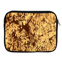 Abstract Brachiate Structure Yellow And Black Dendritic Pattern Apple Ipad 2/3/4 Zipper Cases by Nexatart