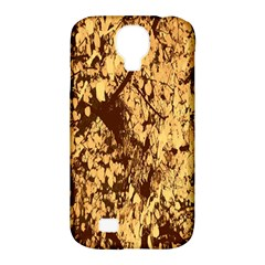 Abstract Brachiate Structure Yellow And Black Dendritic Pattern Samsung Galaxy S4 Classic Hardshell Case (pc+silicone)