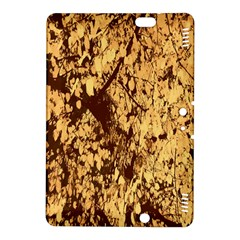 Abstract Brachiate Structure Yellow And Black Dendritic Pattern Kindle Fire Hdx 8 9  Hardshell Case by Nexatart