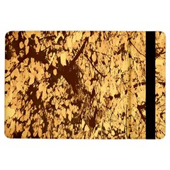Abstract Brachiate Structure Yellow And Black Dendritic Pattern Ipad Air Flip by Nexatart