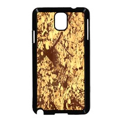 Abstract Brachiate Structure Yellow And Black Dendritic Pattern Samsung Galaxy Note 3 Neo Hardshell Case (black) by Nexatart
