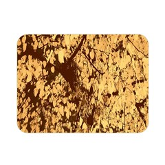 Abstract Brachiate Structure Yellow And Black Dendritic Pattern Double Sided Flano Blanket (mini)  by Nexatart