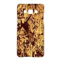 Abstract Brachiate Structure Yellow And Black Dendritic Pattern Samsung Galaxy A5 Hardshell Case  by Nexatart