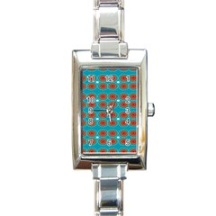 Floral Seamless Pattern Vector Rectangle Italian Charm Watch by Nexatart