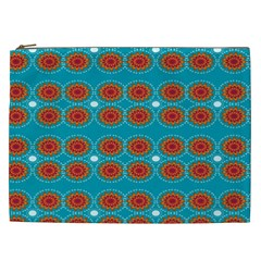 Floral Seamless Pattern Vector Cosmetic Bag (xxl)  by Nexatart