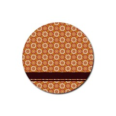 Floral Seamless Pattern Vector Rubber Coaster (round)  by Nexatart