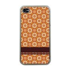 Floral Seamless Pattern Vector Apple Iphone 4 Case (clear)