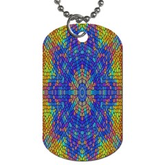 A Creative Colorful Backgroun Dog Tag (one Side) by Nexatart