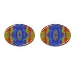 A Creative Colorful Backgroun Cufflinks (oval) by Nexatart