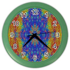 A Creative Colorful Backgroun Color Wall Clocks