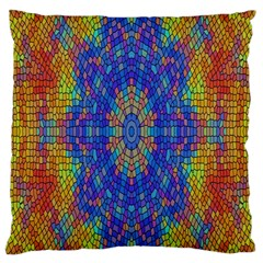 A Creative Colorful Backgroun Large Cushion Case (one Side)