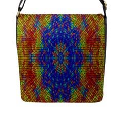 A Creative Colorful Backgroun Flap Messenger Bag (l)