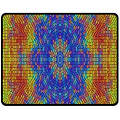 A Creative Colorful Backgroun Double Sided Fleece Blanket (medium)