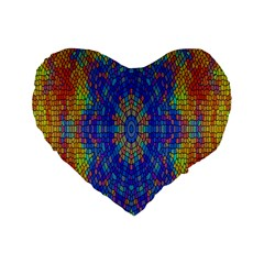 A Creative Colorful Backgroun Standard 16  Premium Flano Heart Shape Cushions by Nexatart