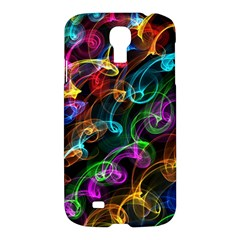 Rainbow Ribbon Swirls Digitally Created Colourful Samsung Galaxy S4 I9500/i9505 Hardshell Case by Nexatart