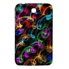 Rainbow Ribbon Swirls Digitally Created Colourful Samsung Galaxy Tab 3 (7 ) P3200 Hardshell Case  by Nexatart