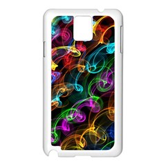 Rainbow Ribbon Swirls Digitally Created Colourful Samsung Galaxy Note 3 N9005 Case (White)