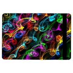 Rainbow Ribbon Swirls Digitally Created Colourful Ipad Air Flip