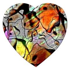 Abstract Pattern Texture Jigsaw Puzzle (heart)