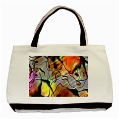 Abstract Pattern Texture Basic Tote Bag (two Sides)