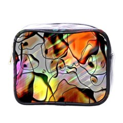 Abstract Pattern Texture Mini Toiletries Bags by Nexatart