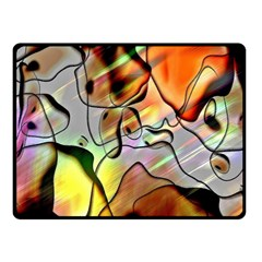 Abstract Pattern Texture Fleece Blanket (small) by Nexatart