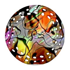 Abstract Pattern Texture Round Filigree Ornament (two Sides) by Nexatart