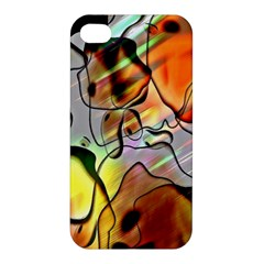 Abstract Pattern Texture Apple Iphone 4/4s Premium Hardshell Case by Nexatart