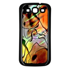 Abstract Pattern Texture Samsung Galaxy S3 Back Case (black)