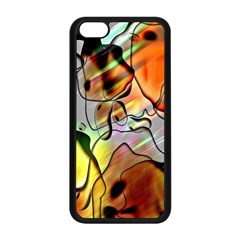 Abstract Pattern Texture Apple Iphone 5c Seamless Case (black) by Nexatart
