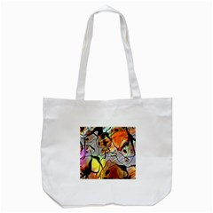 Abstract Pattern Texture Tote Bag (white)