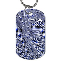 Aliens Music Notes Background Wallpaper Dog Tag (one Side)