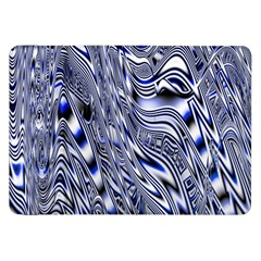 Aliens Music Notes Background Wallpaper Samsung Galaxy Tab 8 9  P7300 Flip Case by Nexatart