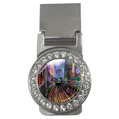 Downtown Chicago City Money Clips (cz)