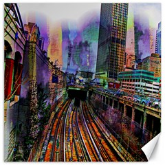 Downtown Chicago City Canvas 16  X 16   by Nexatart